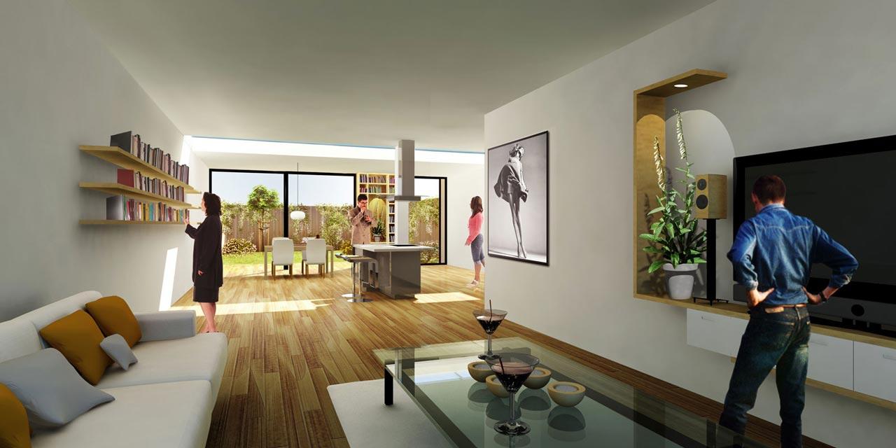 Living+ Unit-Interior view