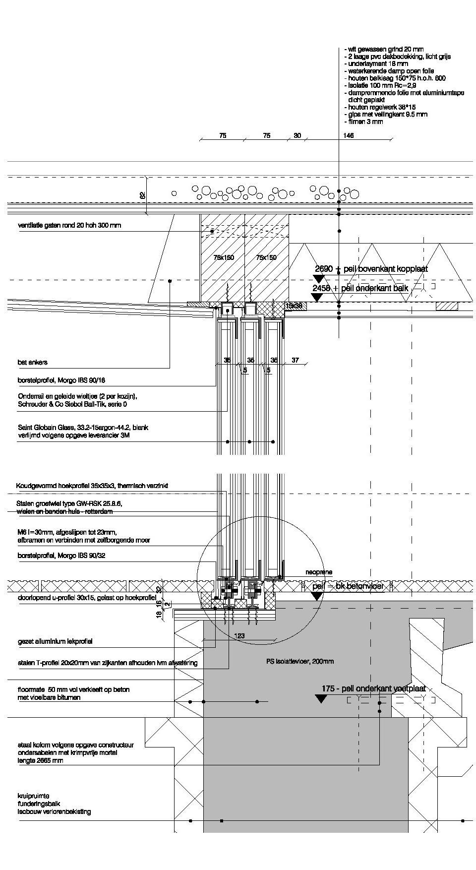 Art studio-skylight detail