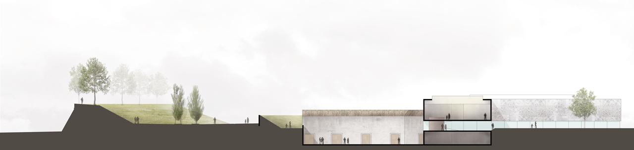 Cittadella del Commiato-Longitudinal Section