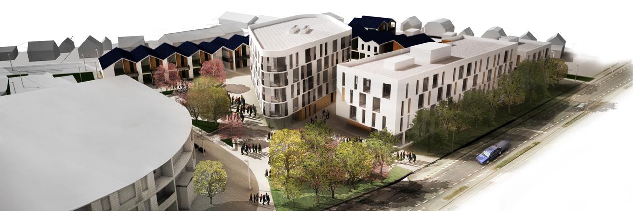 Eltheto Housing and Healthcare Centre-Bird's eye view
