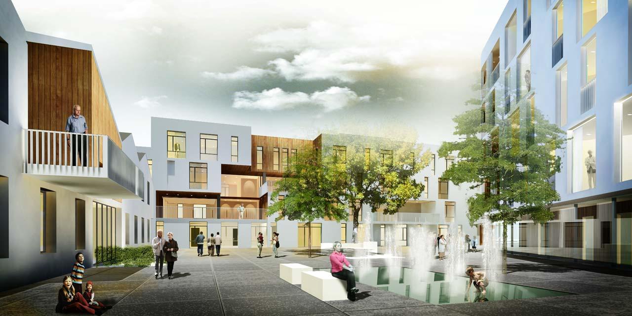 Eltheto Housing and Healthcare Centre-Public square