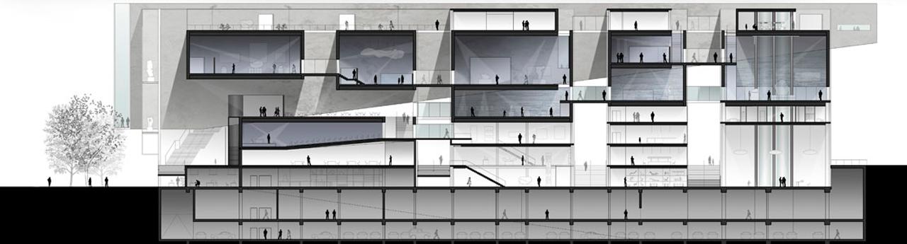 MOMA Warsaw-Doorsnede