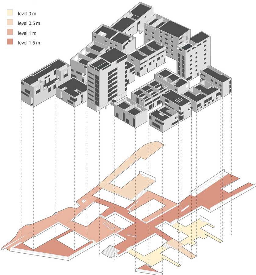 Suburban Platform-Axonometric