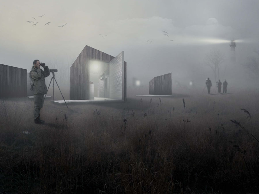 2by4-Waterdunen Breskens-Bird house-render FOG