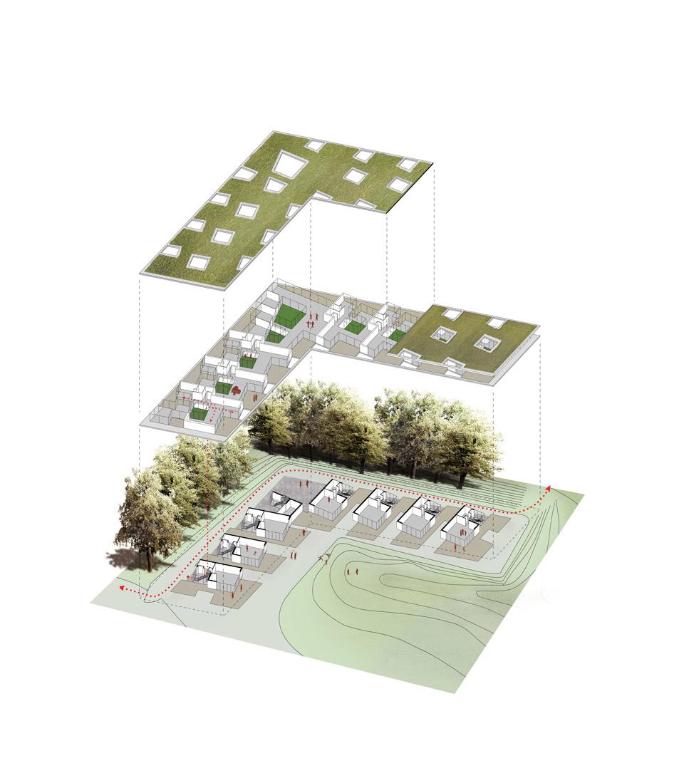 Landgoed De Hulst Oldenzaal_Axonometry